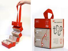 Trip Kit / Branding & Packaging / Designed by Olivia Paden, Art Center College of Design, California Packaging Box, Brand Packaging, Retro Packaging, Kids Packaging, Medical Packaging, Clever Packaging, Product Packaging, Social Design, Branding