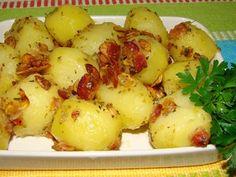 Batata souté com bacon