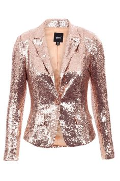 New All Over Sequin Button Up Padded Shoulder Dummy Pockets Party Blazer Jacket Gold Sequin Jacket, Sequin Blazer, Sequin Kimono, Stylish Jackets, Jackets For Women, Clothes For Women, Mode Hijab, Blazer Jacket, Beautiful Outfits