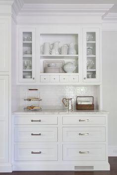 Built In Kitchen Hutch, Transitional, Kitchen, Kathy Tracey Design