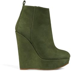 DSQUARED2 Women's Ankle boot ($313) ❤ liked on Polyvore featuring shoes, boots, ankle booties, booties, military green, leather ankle booties, short boots, green boots, leather military boots and military boots