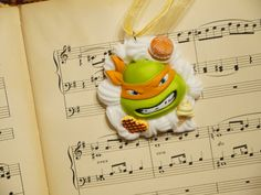 TMNT Michelangelo Decoden Necklace Kawaii Whipped Cream and Candy Desserts Chocolate