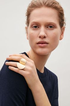 COS image 3 of Warped shape ring in Gold