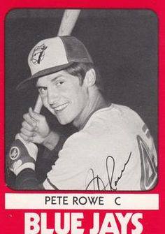 1980 TCMA Knoxville Blue Jays #4 Pete Rowe Front