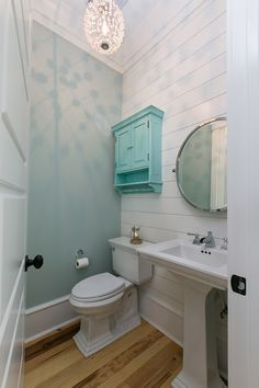 House of Turquoise: Coralberry Cottage Bathroom with some shiplap
