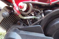 Economiseur de carburant Magn-us mini sur une mobylette peugeot 103 SPX