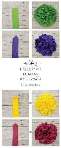 We used to make these all the time for decorations when i was a kid how to make tissue paper flowers four ways mightylinksfo