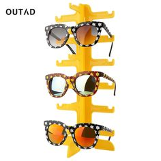 b63d377e787 OUTAD 6 Pairs Plastic Sun Glasses Eyeglasses Display Stands Rack Frame  Shelf Eyewear Counter Show Stand Holder Stent showcase