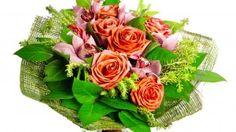 Preview wallpaper roses, leaves, flower, ribbon 3840x2160