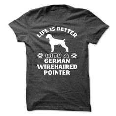 German Wirehaired Pointer T Shirts, Hoodies. Get it here ==► https://www.sunfrog.com/Pets/German-Wirehaired-Pointer--K01.html?41382