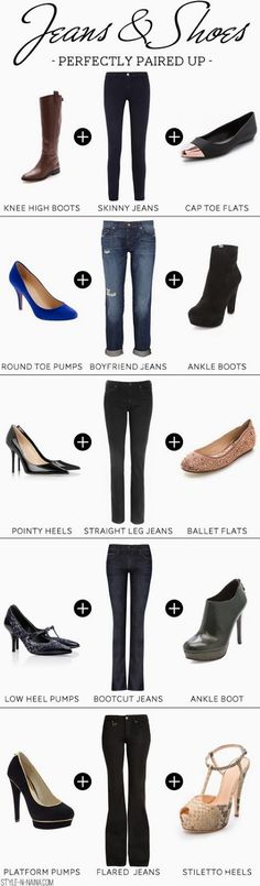 What shoes you should wear with which jeans