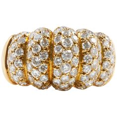 Van Cleef & Arpels Diamond Gold Ring | From a unique collection of vintage more rings at https://www.1stdibs.com/jewelry/rings/more-rings/