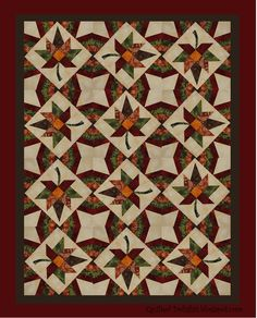 Beautiful fall quilt.  Such inspiration.  ~~from QuiltedDelights.blogspot.com