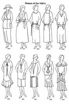 Clothing Shapes 1920's
