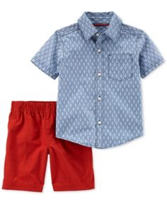 Carter s 2-Pc. Printed Cotton Shirt  amp  Shorts Set 0283296d0