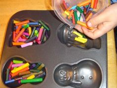 Good idea if you have too many crayons and cheap idea! I look forward to doing this next year!!