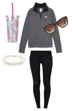 Secret pink, under armour, ray-ban and lilly pulitzer lazy outfits, laid ba Laid Back Outfits, Lazy Day Outfits, Cute Outfits For School, Sporty Outfits, Simple Outfits, Everyday Outfits, Outfits For Teens, Vs Pink Outfit, Pink Outfits