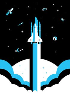 Spaceshuttle dribbble2
