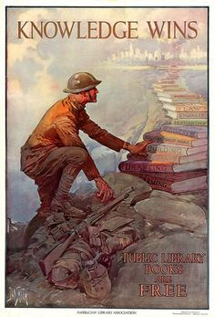 World War I Library Poster
