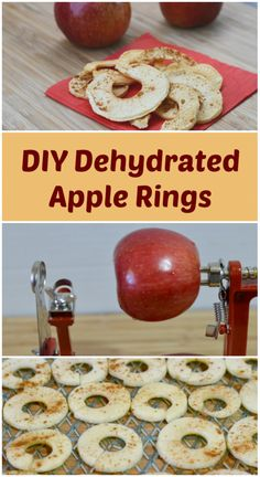 Delicious & easy DIY dehydrated apple rings! #SoFabSeasons