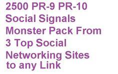 2500 seo Social media bookmark Signals High pr Backlinks