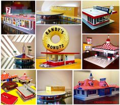 My fun collection of fast food and dining scale models!