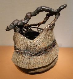 Japanese baskets  Asian Art Museum  San Francisco  5 February 2012 .Basketry Art #Basketry Art #Art #Basket #Wicker Basket #Craft