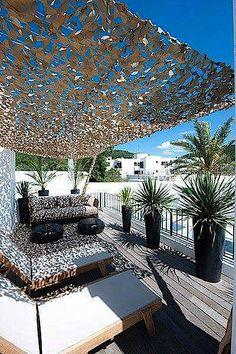 Pergola For Small Backyard Rooftop Patio, Patio Roof, Backyard Patio, Pergola Plans, Diy Pergola, Pergola Kits, Terrace Design, Patio Design, Garden Design