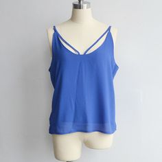 Sexy Women's Strap Tanks Crop Tops 5 Colors Sleeveless Camisole Halter Top Summer Style Chiffon Camis Vest Brand Tops VT008