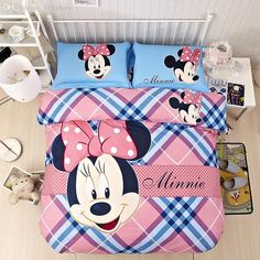 100% Cotton Cartoon Bed Cover Set Cartoon Mouse Type Comforter Bedding Set Suitfor Children 3d Bed Set Online with $75.58on Aozhouqie's Store | DHgate.com