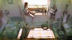 部屋のアニメ。Anime room. Girl ♡