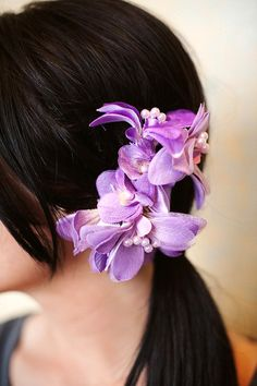 Lilac and Plum Flower Spring Fashion Fascinator