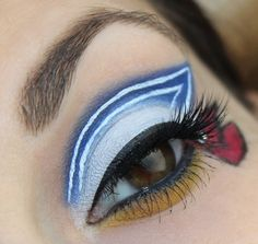Sailor Moon inspired make up by http://www.talasia.de/2015/06/04/eyes-sailor-moon-inspired-make-up/