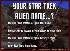 Star Trek Alien Name