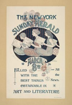 The New York Sunday herald. March 8th 1896 - ID: 1543101 - NYPL Digital Gallery