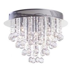 Litecraft Moore 15 Light Flush Ceiling Light - Chrome- at Debenhams Mobile