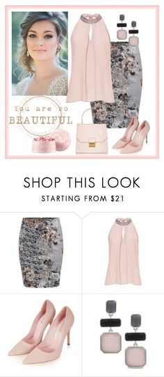 """""""Untitled #382"""" by rosiepeter ❤ liked on Polyvore featuring WithChic, Vera Mont, Topshop, Chico's and Miu Miu"""
