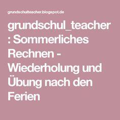 grundschul_teacher        : Sommerliches Rechnen  - Wiederholung und Übung nach den Ferien
