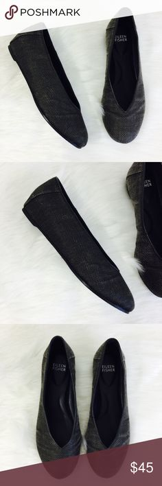 Eileen Fisher Woven Patchwork Flats In good used condition. Does have some wear on the bottom but still in good condition. Eileen Fisher Shoes Flats & Loafers