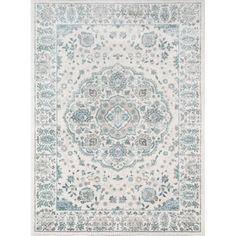 Alcott Hill® Kinsley Blue/Ivory Area Rug