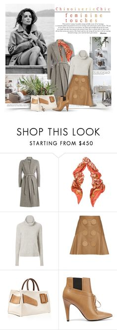 """""""Feminine Touches"""" by thewondersoffashion ❤ liked on Polyvore featuring Ralph Lauren Blue Label, Trilogy, Balmain, Veronica Beard, Givenchy, Boyy, Alexander Wang and Alexis Bittar"""