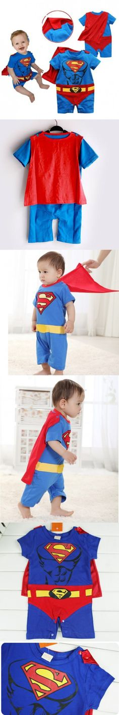 Muscle Baby Rompers Cape Sets Superman Baby Clothes Body Suit roupa bebe roupa de bebe baby clothes months