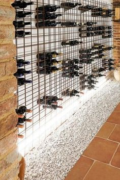 Wine Cellar Basement, Wine Cellar Racks, Chalet Design, House Design, Alcohol Cabinet, Wine Bottle Wall, Wine Stand, Joinery Details, Wine Display