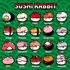 Sushi rabbit! すしウサギ! #sushi #food #illustration #art #rabbit #animal #instart #ウサギ #うさぎ #兎 #寿司 #おいしいよ