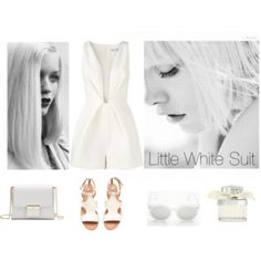 Little White Suit White Suits, Little White, Shoe Bag, Polyvore, Stuff To Buy, Design, Women, White Outfits
