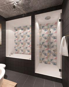 Фотография: Ванная в стиле Лофт, Квартира, Дома и квартиры, IKEA, Проект недели…