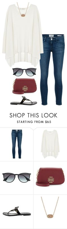 no school tomorrow!!! by helenhudson1 on Polyvore featuring Century Seven, Frame, Tory Burch, Kendra Scott and Ray-Ban