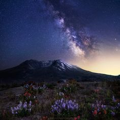 """Stars over St. Helens - <a href=""""http://www.facebook.com/parchenphotography/"""">Facebook page for updates</a> <a href=""""http://www.parchenphotography.com/"""">Website for full portfolio</a> Instagram: @ParchenPhotography  The summer Milky Way rising over Mount St. Helens from the Johnston Ridge Observatory. Shot with Sony A7r and Zeiss 2/35 ZE. Enjoy!"""