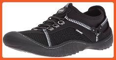 JSport by Jambu Women's Compass-f6 Flat, Black/Grey, 7 M US - Flats for women (*Amazon Partner-Link)