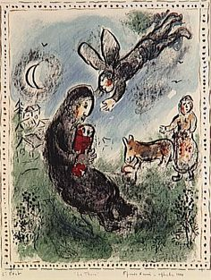 The Torah, the second state by @artistchagall #naïveart